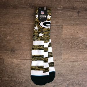 Green Bay Packers Stance Socks 🧀 Large 9-12 Men's